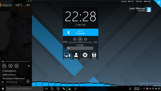 Windows 10 TP build 10056 by JUANMAS7ER