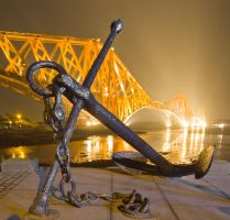 Anchor at Forth Rail Bridge by BusterBrownBB