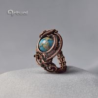 One of a kind ring with Jasper bead by artual