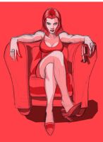 WOMAN IN RED with gun by Wieringo