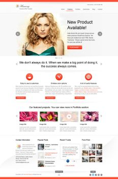 Harmony HTML5 Template by watracz