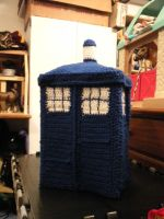 Crochet Tardis Box by ImmortalSpark