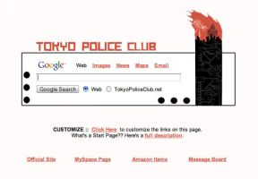 Tokyo Police Club Startpage by AwesomeStart