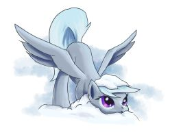 Wispy in the Snow by Fox-Moonglow