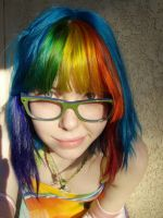 My new rainbow hair by MeganYourFace