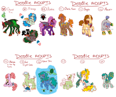 Doodle Pony adopts 14, 15, 16, 17 WIP by Sarahostervig