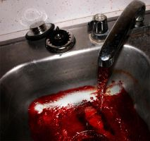 Faucet dripping blood by somedude666