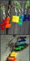 tetris piece jewelry set by Louness26