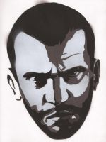 Niko Bellic - Stencil by theraineydaze