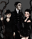 Nightmare family -Pitch, Elsa and Jack- by NoodleSayYeah