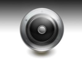 Glossy Speaker Icon by HimandMe