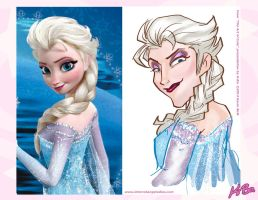 The Art of Cute: Elsa from Frozen 'Reversing Cute' by kevinbolk