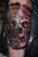 Ivan Colour Skull by HammersmithTattoo