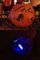Sonic Pumpkin Light and Dark by ghostanjo
