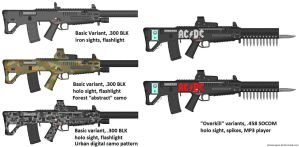 PDW-TR 300 (various camos and variants) by caiobrazil