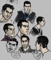 teen wolf: doodles by Gone-Batty