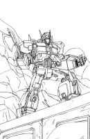Optimus Prime Lineart by DStevensArt