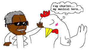 Ray Charles Touching Hen by tentabrobpy