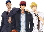 Kagami, Aoimine and Kise by LuckyShiney