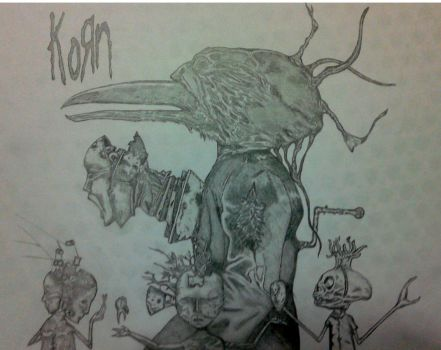 MY UNTITLED(KORN) COVER DRAWING by FuatK