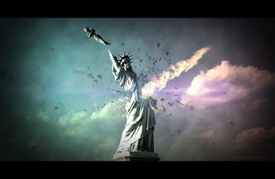 Apocalypse Now: Statue of Liberty by PocColino