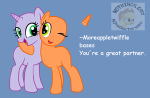 Base Pony You are  great partner by moreappletwiffle