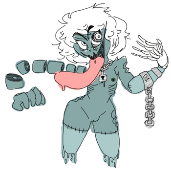 some random zombie girl i created at 2 am by mmx4tumblr