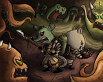 Sewer Fight by Ric-M