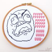 Cross Stitch - FUUU by LaurenMagpie