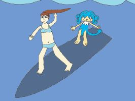 Surfing Sally - recolored by ChipmunkRaccoon2