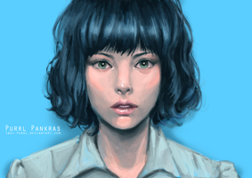 Blue girl by Inui-Purrl