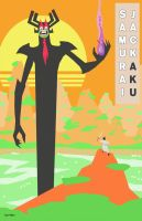 Samurai Jack Vs Aku by Hartter