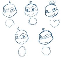 head shapes by evilsherbear