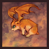 Patamon by IceandSnow