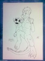 Furry soccer player by G3Drakoheart-Arts