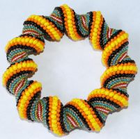 Multi Color Spiral Bracelet by pocketfuloftreasures