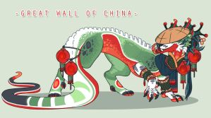 The Great Wall of China by SinCommonStitches