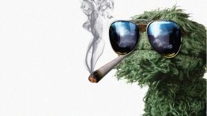 Grouch weed smoker by flippedblink