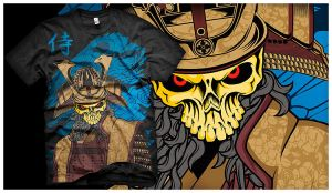 Samurai of The Dead Tee by bayrude