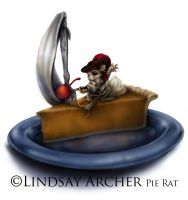 Pie Rat by LinzArcher