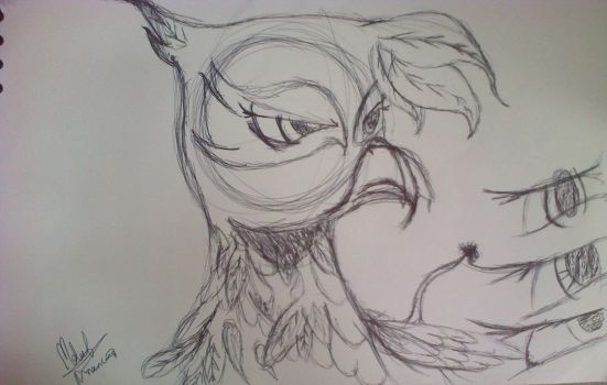 gilda the griffon wip by meleetheman
