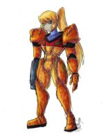 Colored Samus Sketch by Inkblot-Rabbit