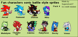 Fan Characters sonic battle style pack 4 by supersilver27