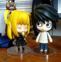 L and Misa From Death Note by ixneedxaxdoctor