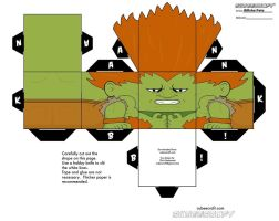 Classic Blanka Cubeecraft by RiffshePete
