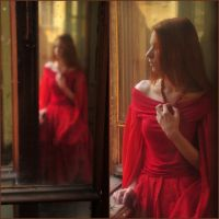 woman in red by YaraKlaproos