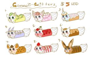 Cannoli Critter Adoptables! by AstraIKitsune