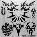 Tribal Brush Set 3 by narvils