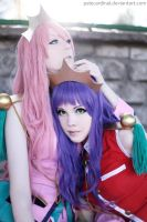 Utena + Anthy: Peaceful Love by palecardinal