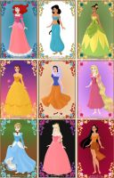 disney princesses by iloveuyou111